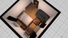 Raumgestaltung Ani's Wohn- und Schlafzimmer in der Kategorie Wohnzimmer