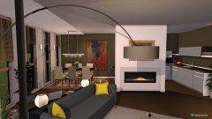 Raumgestaltung appartement met terras in der Kategorie Wohnzimmer