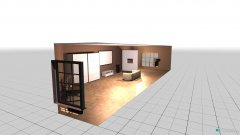 Raumgestaltung Arbeits - und Wohnraum in der Kategorie Wohnzimmer
