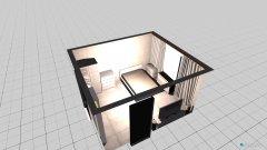 Raumgestaltung Bett links in der Kategorie Wohnzimmer