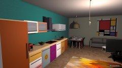 Raumgestaltung boho first floor in der Kategorie Wohnzimmer