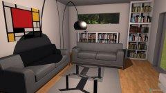Raumgestaltung Bücherregal1 in der Kategorie Wohnzimmer