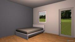 Raumgestaltung Chris Wohnung mit Bett in der Kategorie Wohnzimmer