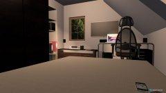Raumgestaltung Christoph's Zimmer - Bettansciht in der Kategorie Wohnzimmer