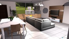 Raumgestaltung cocina y sala de estar in der Kategorie Wohnzimmer