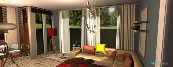 Raumgestaltung Colorfull Livingroom in der Kategorie Wohnzimmer