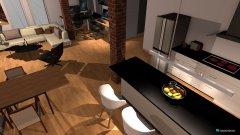 Raumgestaltung Dachwohnung 1 wohnzimmer in der Kategorie Wohnzimmer