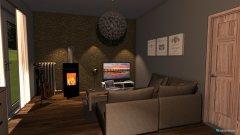 Raumgestaltung Dunkler boden in der Kategorie Wohnzimmer