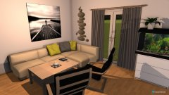 Raumgestaltung EG 2. Entwurf in der Kategorie Wohnzimmer