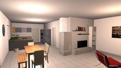 Raumgestaltung EG-Wohnen Kamin & Küche in der Kategorie Wohnzimmer