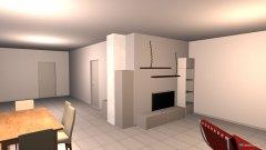 Raumgestaltung EG-Wohnen Kamin in der Kategorie Wohnzimmer