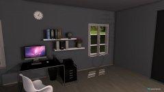 Raumgestaltung ein hauch von blau in der Kategorie Wohnzimmer