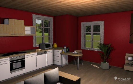 Raumgestaltung Einraumwohnung (Sarah) in der Kategorie Wohnzimmer