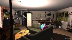 Raumgestaltung Einraumwohnung in der Kategorie Wohnzimmer