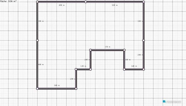 Raumgestaltung eins in der Kategorie Wohnzimmer