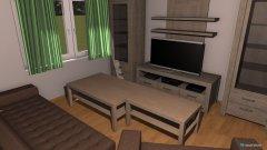 Raumgestaltung Einzimmerewohnung in der Kategorie Wohnzimmer