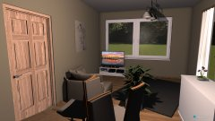 Raumgestaltung Essecke am Kamin in der Kategorie Wohnzimmer