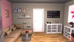 Raumgestaltung Flower Living-Room in der Kategorie Wohnzimmer