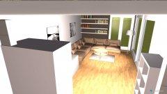 Raumgestaltung ganzer wohnbereich in der Kategorie Wohnzimmer