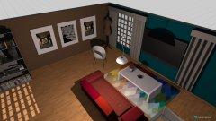 Raumgestaltung Garsoniera in der Kategorie Wohnzimmer
