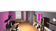 Raumgestaltung GrauBeere2 in der Kategorie Wohnzimmer