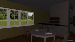 Raumgestaltung Großes Wohnzimmer  in der Kategorie Wohnzimmer