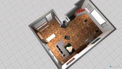 Raumgestaltung Grundriss Dachgeschoßzimmer in der Kategorie Wohnzimmer