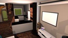 Raumgestaltung Grundriss mit küche u Durchbruch in der Kategorie Wohnzimmer