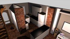 Raumgestaltung Grundriss mit küche in der Kategorie Wohnzimmer