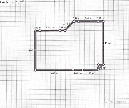 Raumgestaltung Grundriss Wohnzimmer in der Kategorie Wohnzimmer