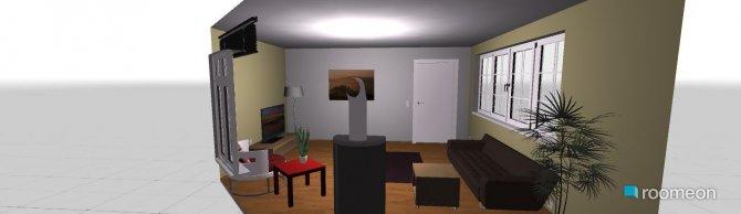 Raumgestaltung Grundrissvorlage Eckraum in der Kategorie Wohnzimmer