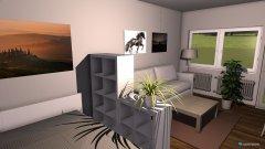 Raumgestaltung Grundrissvorlage L-Form München in der Kategorie Wohnzimmer