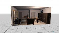 Raumgestaltung Grundrissvorlage L-Form Plan Kamin in der Kategorie Wohnzimmer