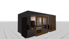 Raumgestaltung Grundrissvorlage L-Form Südfenster in der Kategorie Wohnzimmer