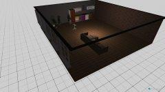 Raumgestaltung Grundrissvorlage L-Form in der Kategorie Wohnzimmer