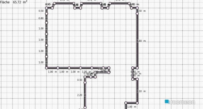Raumgestaltung Grundrissvorlage Wohnung in der Kategorie Wohnzimmer