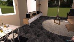 Raumgestaltung Haus Wohnzimmer und Küche in der Kategorie Wohnzimmer