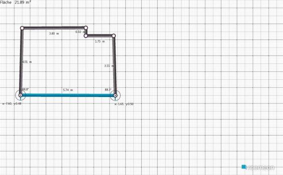 Raumgestaltung Hohnsen Wohnzimmer in der Kategorie Wohnzimmer