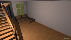 Raumgestaltung Holzhaus in der Kategorie Wohnzimmer