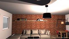 Raumgestaltung industrialny in der Kategorie Wohnzimmer