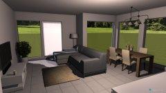 Raumgestaltung Killwangen - Wohnzimmer mit anderem Sofa in der Kategorie Wohnzimmer