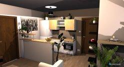 Raumgestaltung kleine Wohnküche in der Kategorie Wohnzimmer