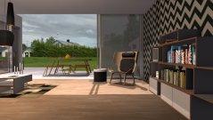 Raumgestaltung Komat + Norr11 + Softline Showroom V5 in der Kategorie Wohnzimmer