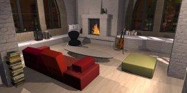 Raumgestaltung Kreatives Stadtloft in der Kategorie Wohnzimmer