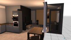 Raumgestaltung kuchnia salon in der Kategorie Wohnzimmer