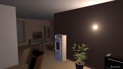 Raumgestaltung Küche, Kaminzimmer, Wohnzimmer in der Kategorie Wohnzimmer