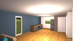 Raumgestaltung Küche, Wohn-, Esszimmer in der Kategorie Wohnzimmer