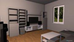 Raumgestaltung Küche-Wohnzimmer in der Kategorie Wohnzimmer