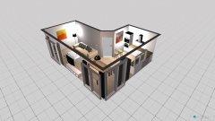 Raumgestaltung Küche WZ Friesenweg in der Kategorie Wohnzimmer