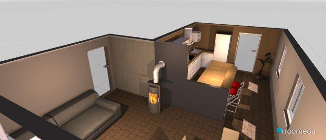 Raumgestaltung Küche_Wohnzimmer in der Kategorie Wohnzimmer